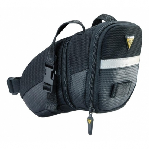 Geanta Borseta Tija Sa Topeak Aero Wedge Pack (TC2260B) prindere curele de tija sa neagra cu elemente reflectorizante 3M
