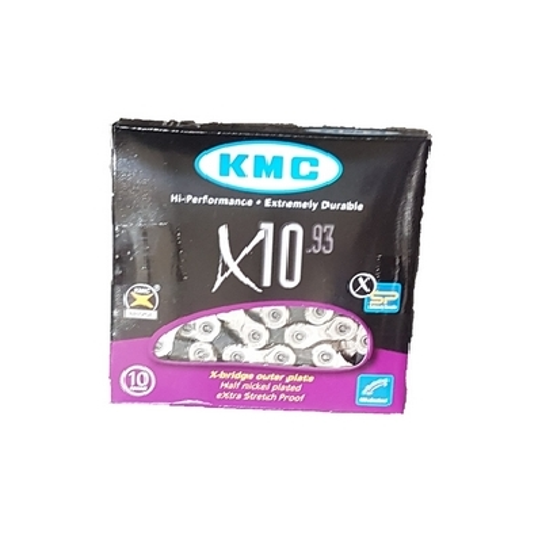 Lant Kmc X10 viteze 1 2x11 128 114 zale Double X Bridge Shape negru argintiu