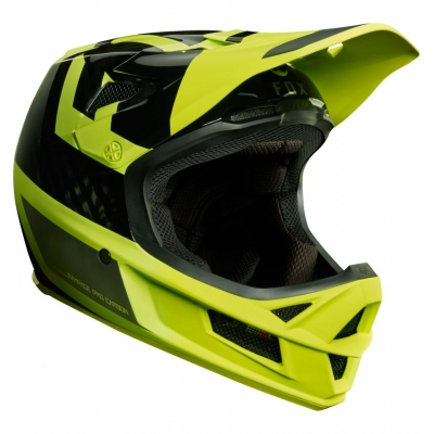 CASCA FOX RAMPAGE PRO CARBON HELMET PREEST YELLOW/BLACK