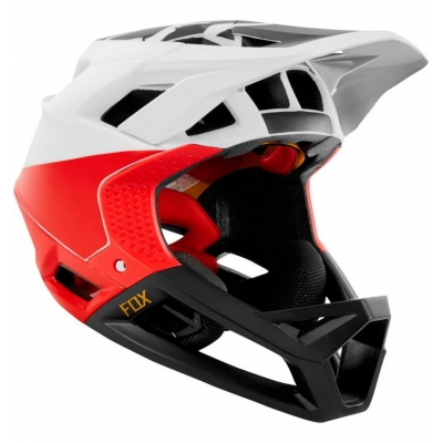 CASCA FOX PROFRAME HELMET PISTOL WHITE/BLACK/RED
