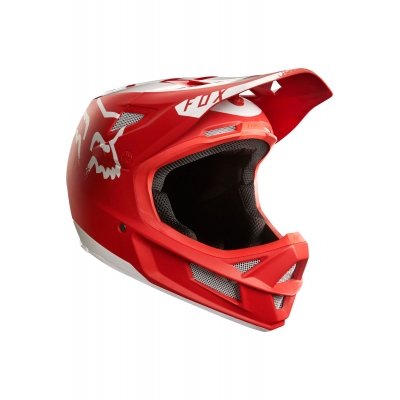 CASCA FOX RAMPAGE PRO CARBON MOTH MTB HELMET RED/WHITE