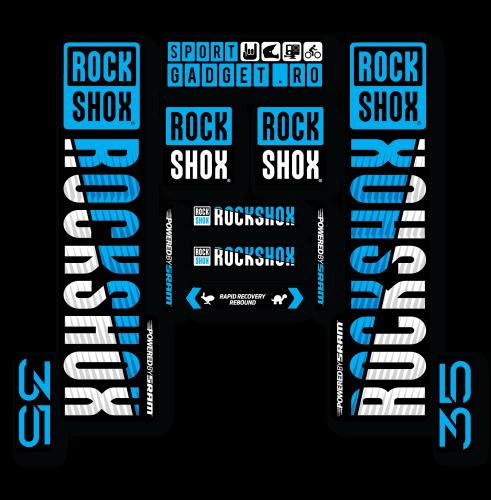 Ochelari Force Ron alb/albastru laser