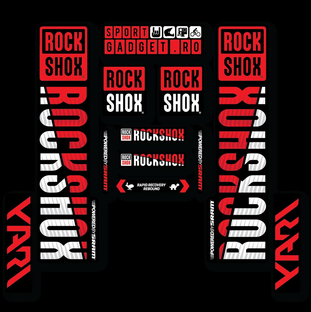 Ochelari Force Vision albi lentila rosie