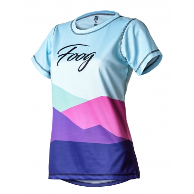 "Tricou Tehnic FOOG ""Mountains"" Lady Blue"