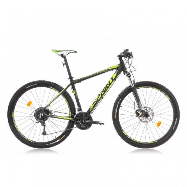 Bicicleta Sprint Apolon Pro 27.5 negru mat/verde lime 2016-480 mm