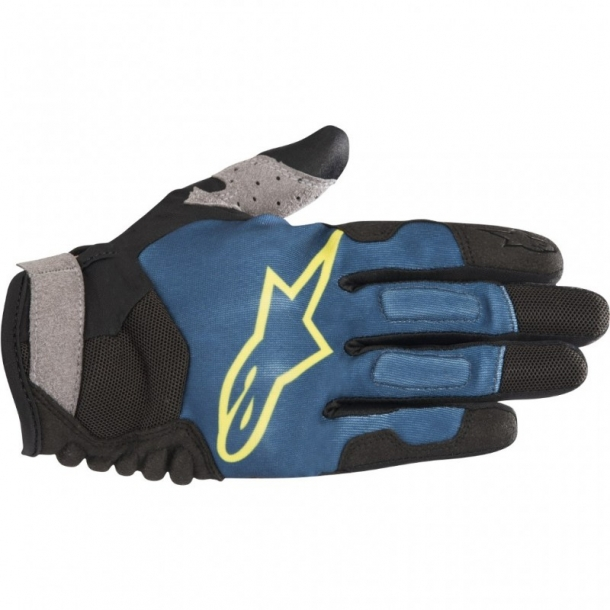 Manusi Alpinestars Drop Pro Poseidon Blue Acid/Yellow