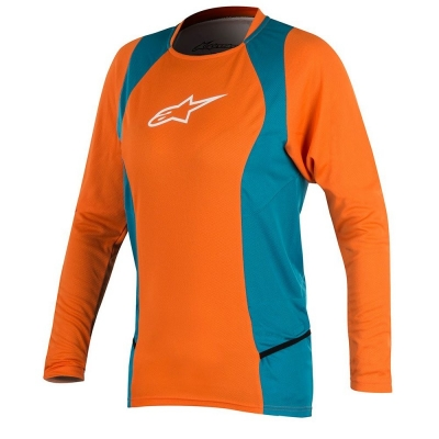 Jersey Alpinestars Stella Drop 2 L/S Jersey bright orange/ocean