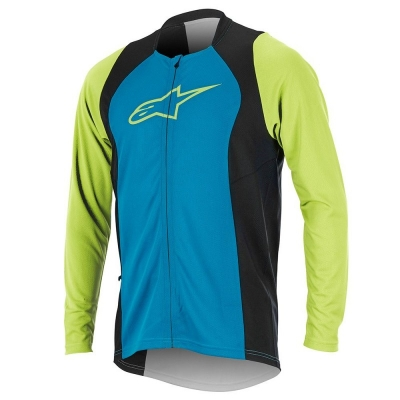 Jersey Alpinestars Drop 2 Full Zip Long Sleeve Jersey bright blue/green