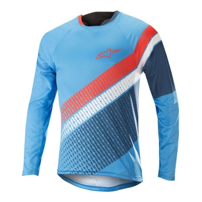 Jersey Alpinestars Predator LS Jersey bright blue/poseidon orange