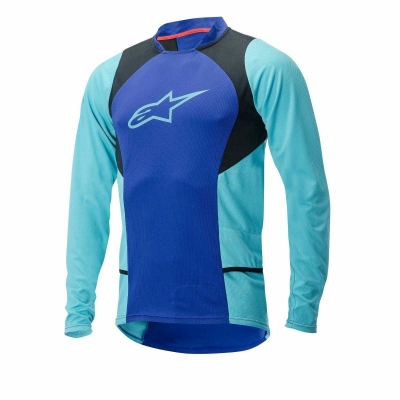 Jersey Alpinestars Drop 2 long Sleeve Jersey blue/stratos/aqua