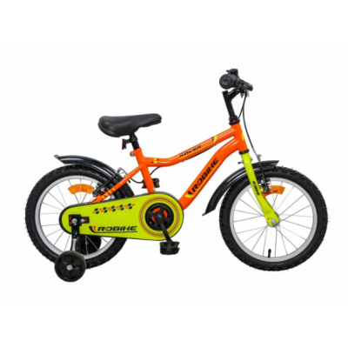 Bicicleta Robike Racer 16'' portocaliu/verde