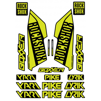 Set Stickere Furca RockShox Pike / Lyrik / Yari / Boxxer Lime