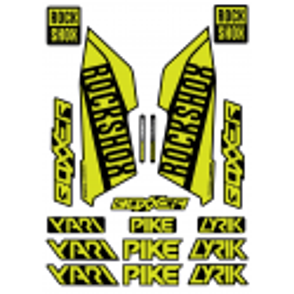 Set Stickere Furca RockShox Pike / Lyrik / Yari / Boxxer Lime