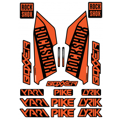 Set Stickere Furca RockShox Pike / Lyrik / Yari / Boxxer Galbene