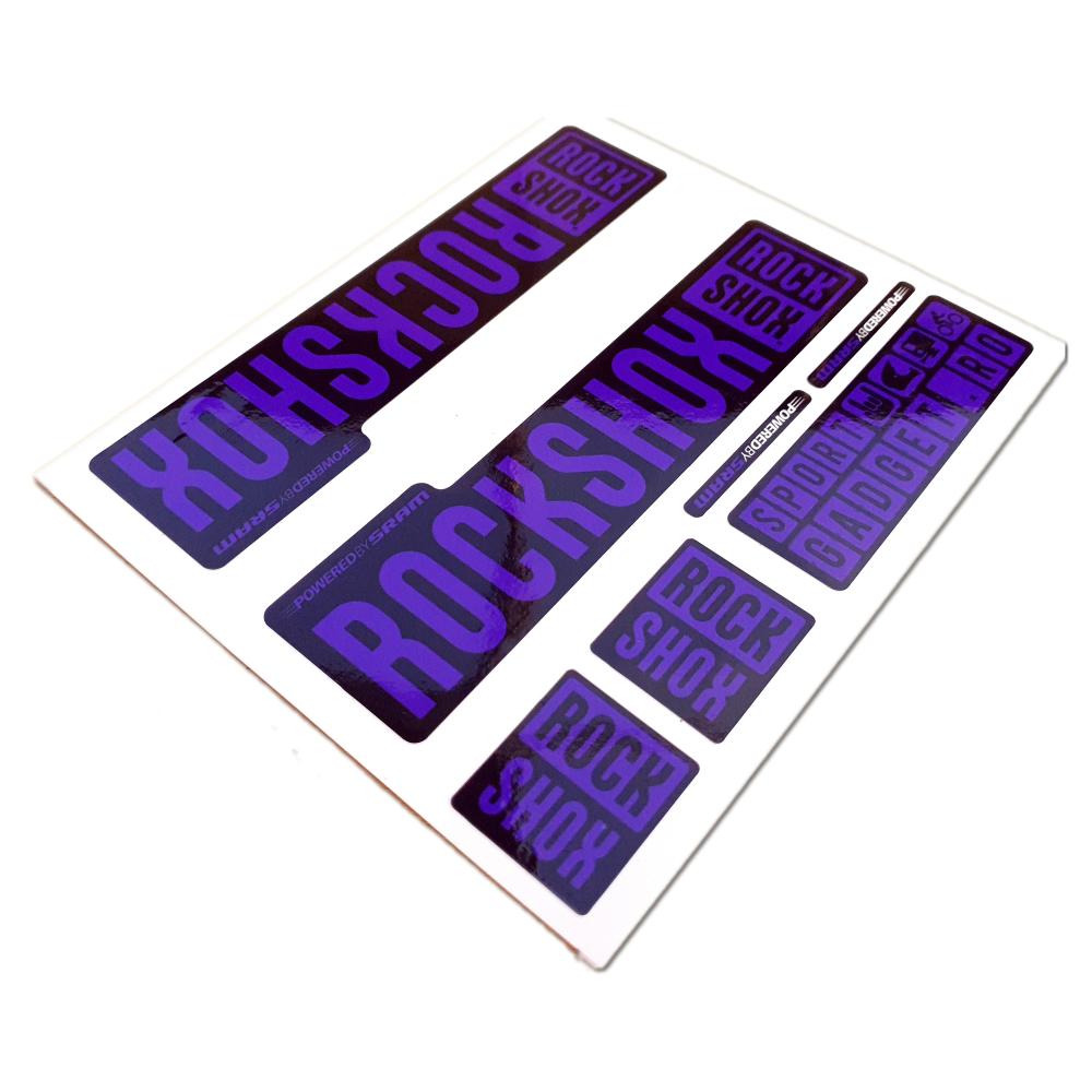 Set Stickere Furca RockShox Pike / Lyrik / Yari / Boxxer Galbene