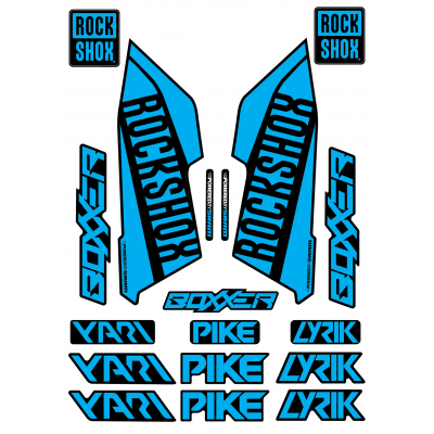 Set Stickere Furca RockShox Pike / Lyrik / Yari / Boxxer Orange