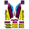 Set Stickere Furca RockShox Pike / Lyrik / Yari / Boxxer Cyan/Magenta/Yellow