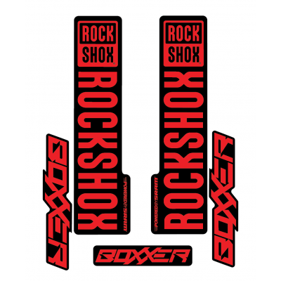 Stickere RockShox Boxxer V1 Decal Kit Black/Red