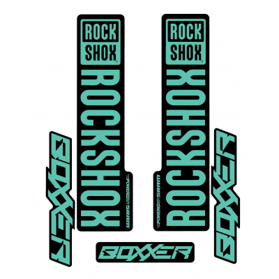 Stickere RockShox Boxxer V1 Decal Kit Black/Turqoise