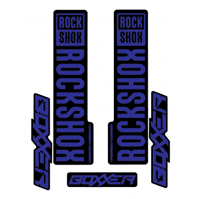 Stickere RockShox Boxxer V1 Decal Kit Black/Dark Blue