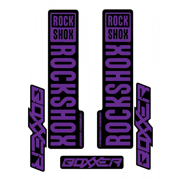 Stickere RockShox Boxxer V1 Decal Kit Black/Purple