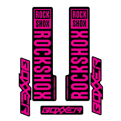 Stickere RockShox Boxxer V1 Decal Kit Black/Magenta