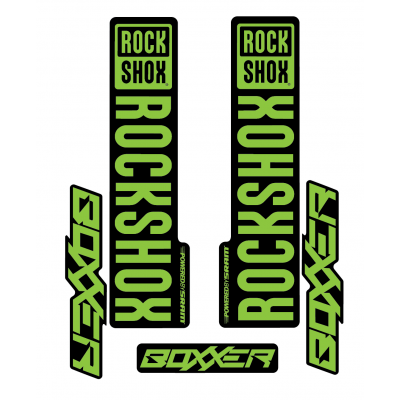 Stickere RockShox Boxxer V1 Decal Kit Black/Lime