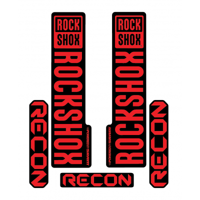 Stickere RockShox Recon V1 Decal Kit Black/Red