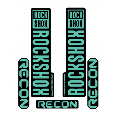Stickere RockShox Recon V1 Decal Kit Black/Turqoise
