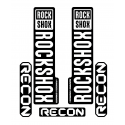 Stickere RockShox Recon V1 Decal Kit Black/White