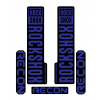 Stickere RockShox Recon V1 Decal Kit Black/Dark Blue