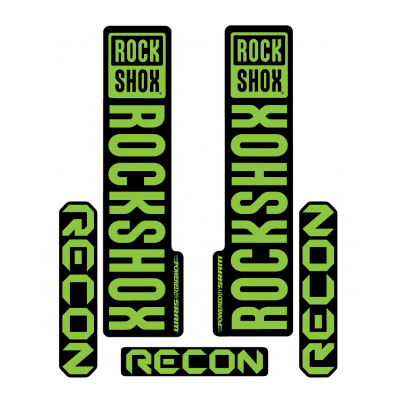 Stickere RockShox Recon V1 Decal Kit Black/Lime