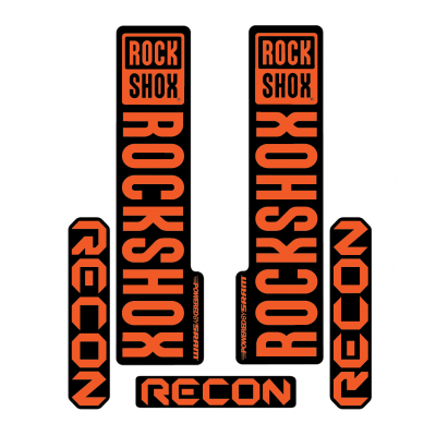 Stickere RockShox Recon V1 Decal Kit Black/Orange