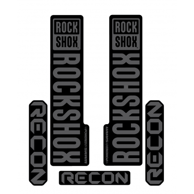 Stickere RockShox Recon V1 Decal Kit Black/Grey