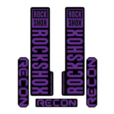 Stickere RockShox Recon V1 Decal Kit Black/Purple