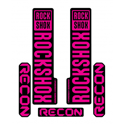 Stickere RockShox Recon V1 Decal Kit Black/Magenta
