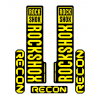 Stickere RockShox Recon V1 Decal Kit Black/Yellow