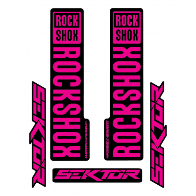 Stickere RockShox Sektor V1 Decal Kit Black/Magenta