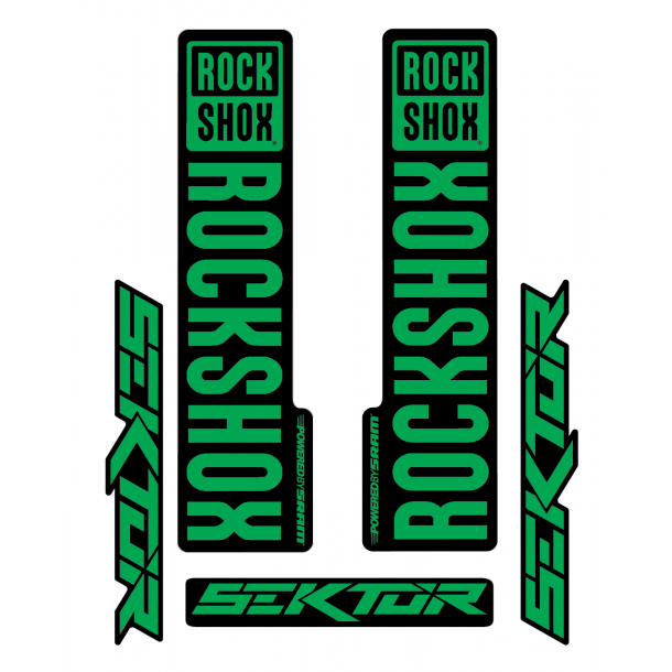 Stickere RockShox Sektor V1 Decal Kit Black/Green