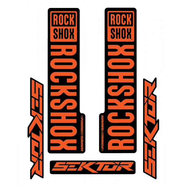 Stickere RockShox Sektor V1 Decal Kit Black/Orange