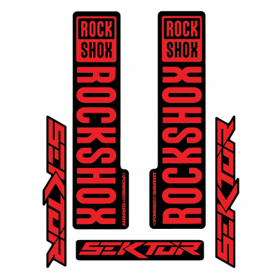 Stickere RockShox Sektor V1 Decal Kit Black/Red
