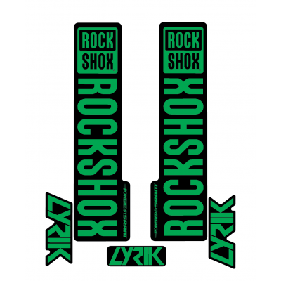 Stickere RockShox Lyrik V1 Decal Kit Black/Green