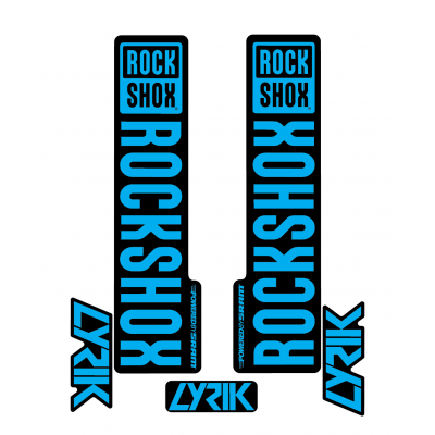 Stickere RockShox Lyrik V1 Decal Kit Black/Cyan