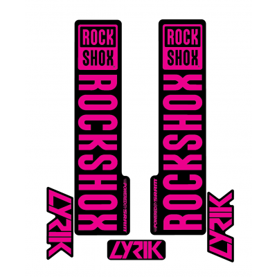 Stickere RockShox Lyrik V1 Decal Kit Black/Magenta