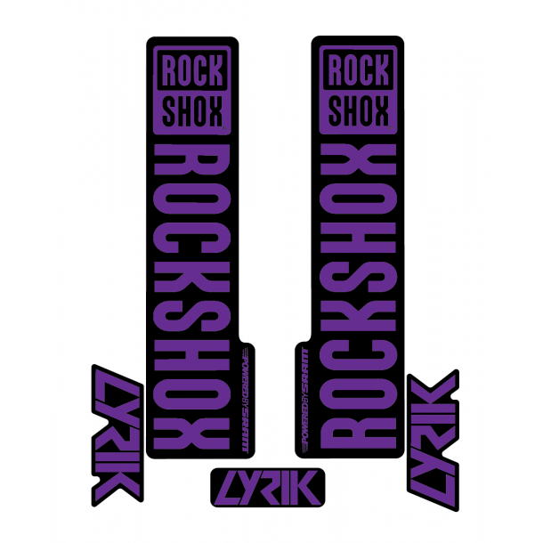 Stickere RockShox Lyrik V1 Decal Kit Black/Purple