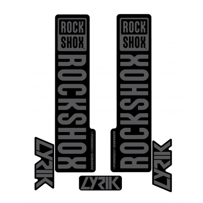 Stickere RockShox Lyrik V1 Decal Kit Black/Grey