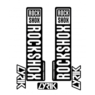Stickere RockShox Lyrik V1 Decal Kit Black/White