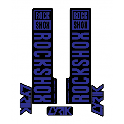 Stickere RockShox Lyrik V1 Decal Kit Black/Dark Blue