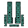 Stickere RockShox Reba V1 Decal Kit Black/Turqoise