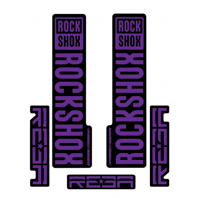 Stickere RockShox Reba V1 Decal Kit Black/Purple